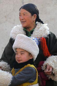 Mother Nd Son. Tibet