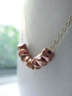 Nugget Necklace - Rose Gold - Trend Uncovet