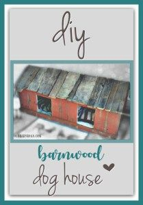Gorgeous DIY barn board doghouse! My pups would love this!