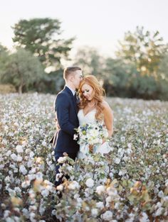 The most stunning cotton field wedding photos I've seen! by Brushfire Photography. See more ----- > http://www.thebridelink.com/blog/2014/03/24/cotton-field-wedding-at-the-windmill-winery/