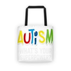 Brother Autism Superpower Shirt - Tote Bags | Simplest online print product marketplace in existence