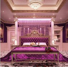 Sensitive Info About Feminine Bedroom Romantic Ideas Only the Pros Know Exist - flipsyourhome Dream Rooms, Dream Bedroom, Master Bedroom, Royal Bedroom, Feminine Bedroom, Bedroom Romantic, Bedroom Furniture, Bedroom Decor, Wall Decor