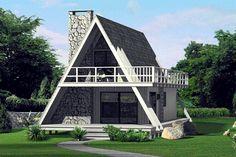 A-Frame House Plan chp-41591 at COOLhouseplans.com