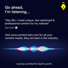Even Siri knows it!  Hire Content Writer 👇🏻  www.content-kart.com  #emailmarketing #businessmarketing #momentmarketing #creativespot #socialsamosa #trendingformat #socialmediadissect #topicalpost #topicalspot #shortestdistance Business Marketing, Email Marketing, Writing About Yourself, Proofreader, Article Writing, Siri, Writing Services, Copywriting, Read More