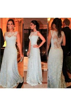 Long Lace Prom Formal Evening Party Dresses 3021042