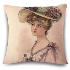 SHARE & Get it FREE | Vintage Flax Sweet Women with Flower Hat Painting Pattern Pillow CaseFor Fashion Lovers only:80,000+ Items·FREE SHIPPING Join Dresslily: Get YOUR $50 NOW!