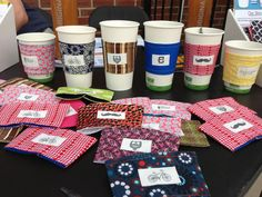 Fabric Coffee Sleeve  by TheNormanProject on Etsy, $5.00