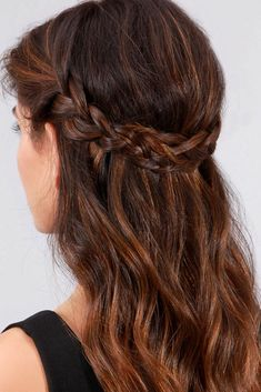 Braided Low Crown | It's time to retire the messy bun. Braids are the universal tools of the hair world that can handle every occasion, from the classic French braid you wear to the farmers' market to the dressy Dutch braid chignon you don at the cocktail party. There's no shortage of stunning braid hairstyles, for long and short hair alike, that will make your life a lot more stylish with just a little more effort. We're swooning over all of the side-swept waterfall braids, fishtail half-up