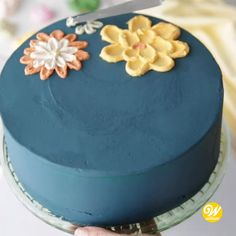 cake decorating videos This is so pretty Cake Decorating Frosting, Cake Decorating Designs, Creative Cake Decorating, Cake Decorating Videos, Cake Decorating Techniques, Creative Cakes, Cookie Decorating, Easy Cake Designs, Professional Cake Decorating