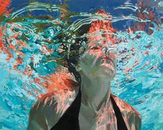 Stunning Poolside Painting by Samantha French