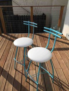 Excited to share this item from my shop: Pair Baby Blue Bar Stools Tall Mod Bar Stools Chairs Vintage Midcentury Modern Design Vintage Blue Metal White Cushion Retro Tall Bar Stools Bar Stool Cushions, Bar Stool Chairs, Eames Chairs, High Chairs, Turquoise Bar Stools, Mid Century Bar Stools, Home Bar Accessories, Hanging Chair From Ceiling, Chairs For Rent