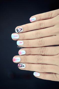 #triangle #ombre #pastel #nails #nail #art