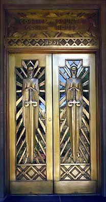Art Deco Metalwork Door in New York. @designerwallace
