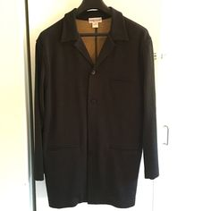 Italian brown knit jacket Italian knit oversized jacket. Brown acrylic/wool blend. Beautiful condition. Unlined. Very classy styling with a casual feel. Jackets & Coats