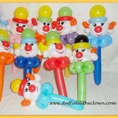 Clowns #balloonart #balloonanimals #burlon #haltonon #clowns #iamconwin