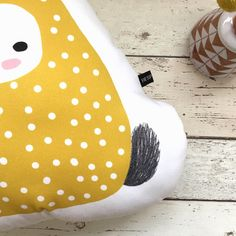 My favourite part of my Gerta bunny cushion is the little scribbly tail! 🐰Designed, printed & handmade in the UK.