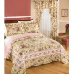 """""""I have many different comforter sets for my bedroom, but was always looking for that English garden look. This was it and it is gorgeous. The detail and colors are like walking into a real garden.""""  ~ from a Blair home décor fan"""