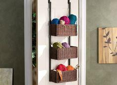 10 Closet Cures That Cost Less Than $100 - Southern Enterprises Over-the-Door 3-Tier Basket Storage Unit