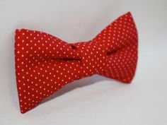 Boys Bow Tie --- Boys Red Polka Dot Bow Tie --- Infant, Baby, Toddler, Boy, Dad
