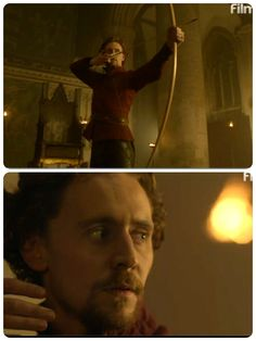 Henry V and his bow and arrow...Bow ... leather pants ... BOUM
