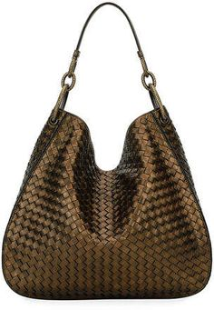 714699390e0b Bottega Veneta Loop Intrecciato Woven Hobo Bag