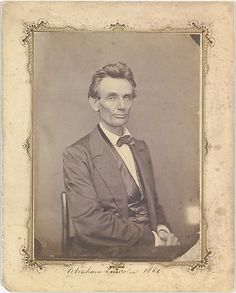 ca. 1860, [The first portrait taken of Abraham Lincoln after he had received the  nomination for president at the Republican National Convention in  Chicago]  Abrahan Lincoln was one of the most strategic political nominees. He recognized the importance and benefit of the photograph as well as the newspapers  in securing his public image and nomination.