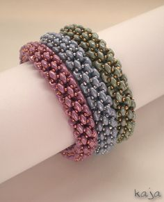 Brazaletes de Superduos o Twin beads de Kaja