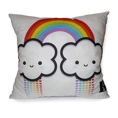 Cute kawaii rainbow pillow