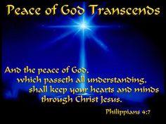 Peace of God Transcends - Philippians 4:7