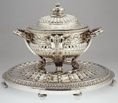 Tureen with stand from the Orloff Service, 1770–71, French, silver