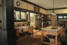 A mixture of modern and rustic kitchen