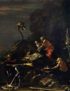 Salvator Rosa - Witches at Their Incantations (detail