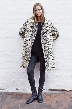 A STYLISH LEOPARD PRINT COAT BY EMERSON FRY