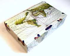 Old map of south america decorative box keepsake by theboxshop1618 decorative box antique world map memory box card by theboxshop1618 gumiabroncs Image collections