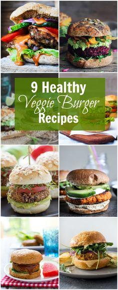 9 Healthy Veggie Burger Recipes