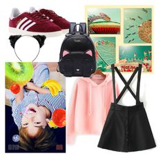 """""""Carnival Day with Chenle(NCT)"""" by hendricks-asher on Polyvore featuring adidas"""