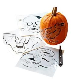 Pumpkin Carving Tattoos: Hooray for easy decorating without the mess.