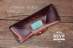 Martha Stewart Christmas gift Custom Sunglasses Leather Case, Handmade, Eyeglasses, Sunglasses pouch, spectacles case, initials, name, hipster, hand stitched, Glasses *** Learn more by visiting the image link.