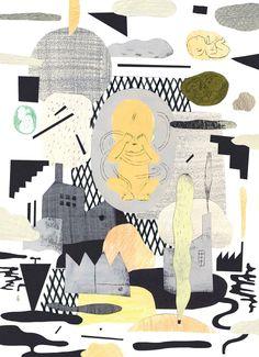 "Illustration by Katty Maurey (kattymaurey.tumblr.com). Read ""We Be Naked"" (March 2014) by Zsuzsi Gartner atthewalrus.ca."
