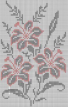 Crochet on Stylowi. Cross Stitch Borders, Cross Stitch Flowers, Cross Stitch Designs, Cross Stitching, Cross Stitch Embroidery, Cross Stitch Patterns, Filet Crochet Charts, Crochet Cross, Crochet Stitches Patterns