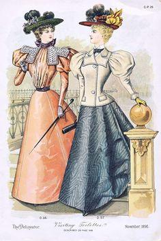 Fashion Plate - The Delineator, November 1896
