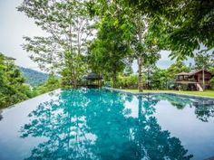 Templer Park Rainforest Retreat, Kuala Lumpur.This retreat is surrounded with 360° views of the Kanching Rainforest Reserve and has its own private pool with hammocks, fishing pond, bedrooms, outdoor kitchen and BBQ
