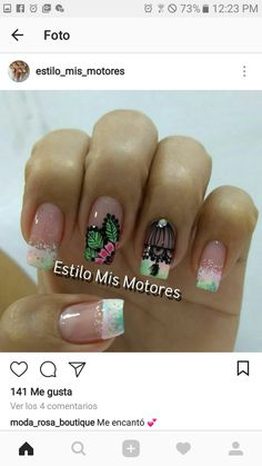 Cute Nails, My Nails, Manicure Y Pedicure, Nail Colors, Nail Designs, Makeup, Beauty, Enamels, Finger Nails