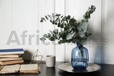 Composition with eucalyptus branches on black table. Buy Creativity & Imagination. Take a look at what the world's best photographers have to offer at africa-images.com Eucalyptus Branches, Black Table, What The World, Best Photographers, Imagination, Glass Vase, Composition, Creativity, Africa