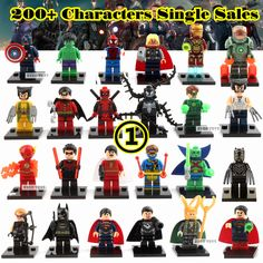 Single Sale DC Marvel Avengers Super Heroes Batman Spiderman Building Blocks Minifigures Classic Children toys  Gift #>=#>=#>=#>=#> Click on the pin to check out discount price, color, size, shipping, etc. Save and like it!