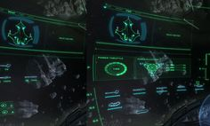semi-transparent visor inspired overlay interface (w/ perspective) but less sci-fi with focus on lines, type, arrows and information-visualization..lighter color pallet with white text