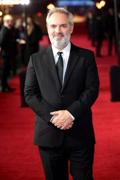 """Director Sam Mendes arrives on the red carpet at the London premiere of """"Skyfall"""" - October 23, 2012.  """"Skyfall"""" would become the most successful James Bond movie of all time, becoming the 14th movie to earn over $1 billion worldwide to that point. Sam Mendes, James Bond Movies, October 23, Skyfall, Red Carpet, Goals, London, London England"""