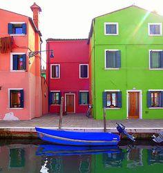 Burano in VENICE - colorful