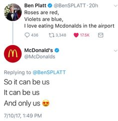 who rUNS THE MCDONALDS TWITTER AND LIKES DEH I NEED TO KNOW