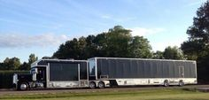 The ultimate toy hauler! Any show car enthusiast that actually attends the culture events or owns a business in this must obtain one of these! Customised Trucks, Custom Trucks, Show Trucks, Big Rig Trucks, Peterbilt Trucks, Peterbilt 379, Motorhome Conversions, Truck Camper, Rv Campers